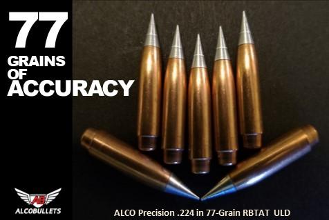 Introducing Long-Range Precision .224 in 77-Grain Rebated Boat Tail Aluminum Tip Ultra Low Drag