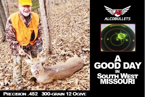 Precision .452 300-grain Practice makes for Successful Hunting