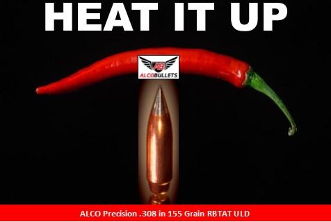 ALCO Precision .308 155-grain RBTAT ULD Hot Shot Chili