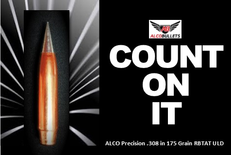 High-performance .308 175 grain ULD bullet