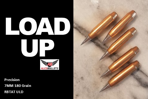 Load ALCO 7MM RBTAT ULD high-performance projectile in 180 grain