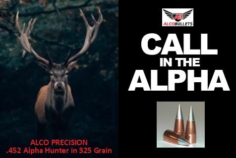 ALCO Precision .452 in 325 grain Alpha Hunter bullet