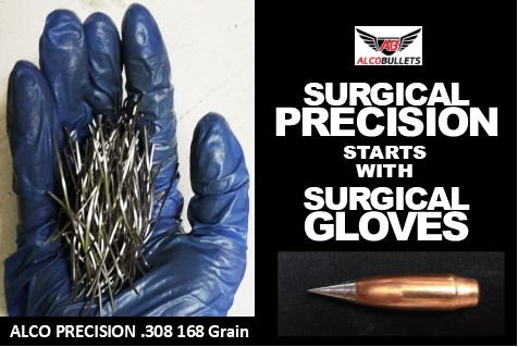 Surgical ALCO Precision Bullets 7-step hand made process