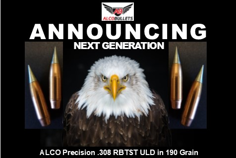 New Release ALCO Precision .308 RBTST ULD projectile in 190 grains