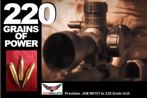 Precision .308 in 220 High-Performance ULD bullets