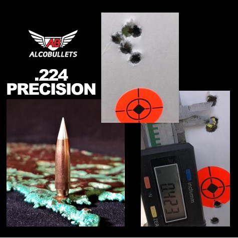 Greatness in ALCO Bullet Precision .224 for your Creedmoor and Valkyrie