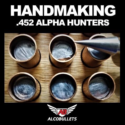 Hand making ALCO Precision .452 325-grain Alpha Hunter bullets for smokeless muzzle loaders