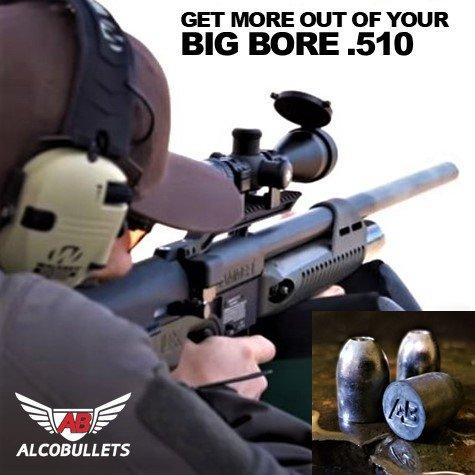Alco Air Boss 50 Caliber Air Rife Swaged Lead Bullets