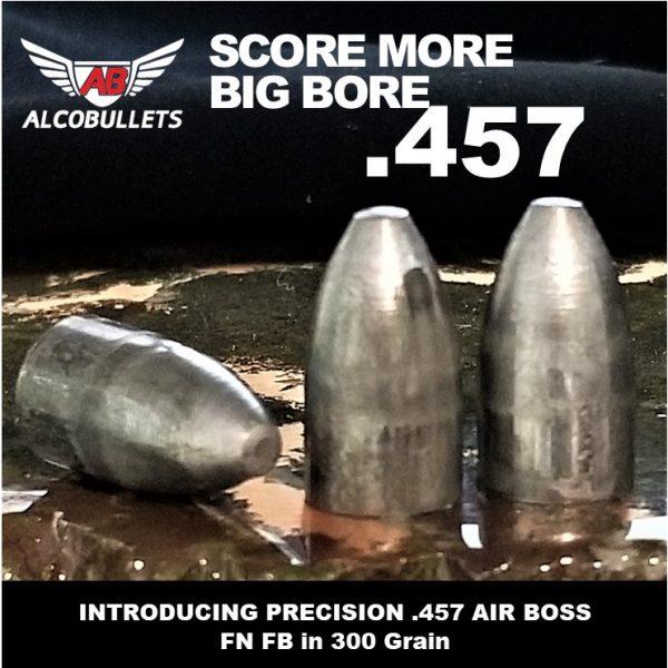 NEW ALCO AIR BOSS 45 Caliber (.457) Air Gun Pellets Big Bore Air Rifle 300 Grain, Swaged Lead Flat Nose, 50 Count