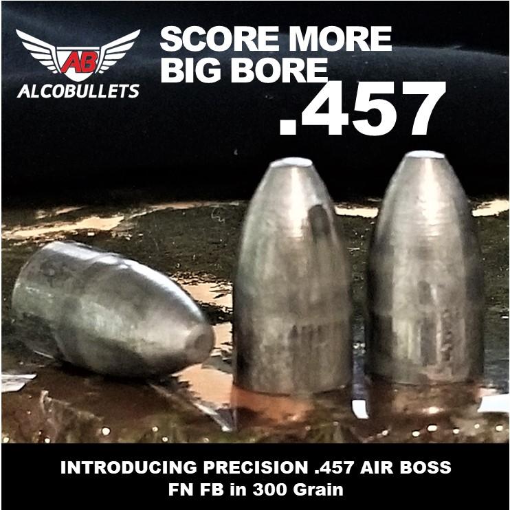 .452 ALPHA HUNTER 325 Grain, Smokeless Muzzle Loader, 12 Ogive, Machined Aluminum Tip